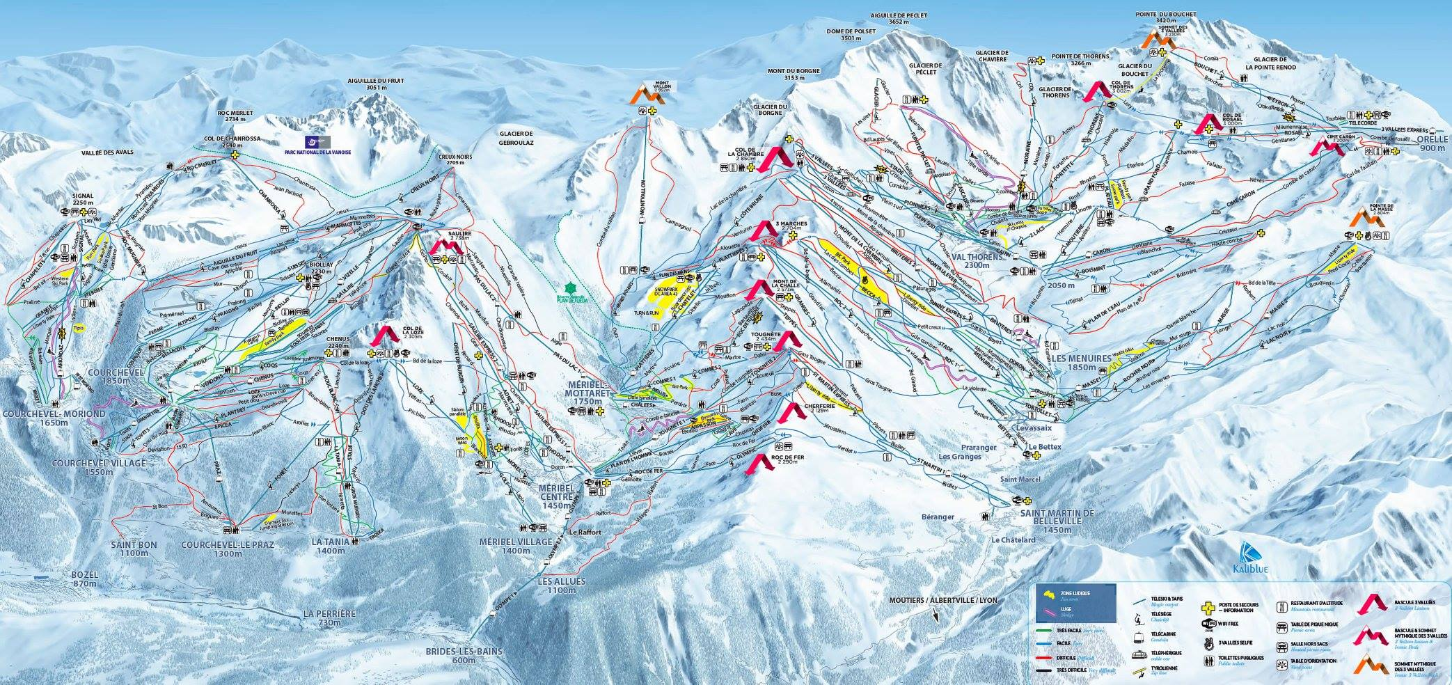 Maps Piste Maps of Courchevel SeeCourchevelcom